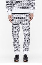 UMIT BENAN White polka dot jogging pants for men