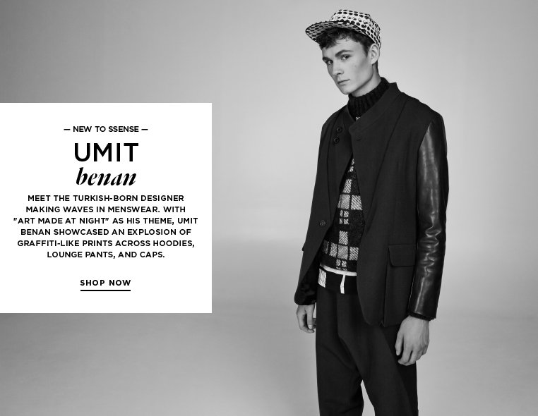 Introducing: Umit Benan Meet the Turkish-born designer making waves in menswear. With 'Art Made at Night' as his theme, Umit Benan showcased an explosion of graffiti-like prints across hoodies, lounge pants, and caps.