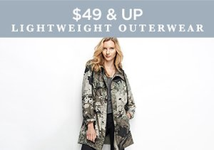 $49 & Up: Lightweight Outerwear