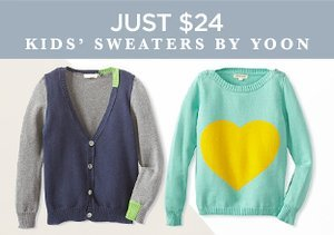 Just $24: Kids' Sweaters by YOON