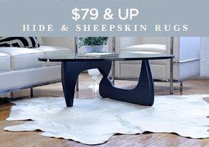 $79 & Up: Hide & Sheepskin Rugs