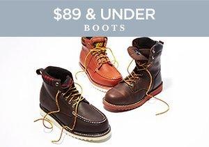 $89 & Under: Boots