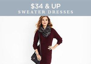 $34 & Up: Sweater Dresses