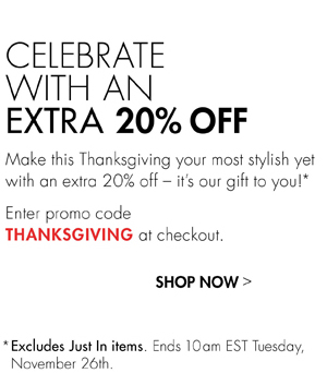 CELEBRATE WITH AN EXTRA 20% OFF