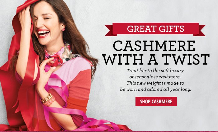Great Gifts - Cashmere with a twist