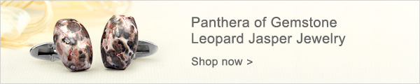 Panthera of Gemstone Leopard Jasper Jewelry