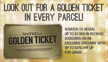 Look out for a Golden Ticket in every parcel!