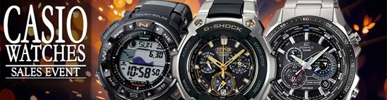 Save up to 73% during the Casio Watches sales event