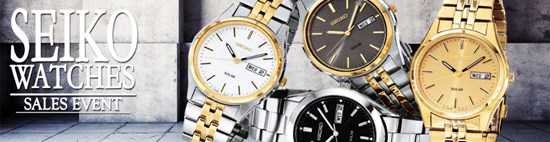 Save up to 83% during the Seiko Watches sales event