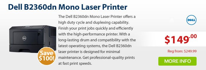 Adorama - Dell B2360dn Mono Laser Printer