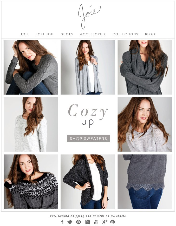 Cozy up SHOP SWEATERS