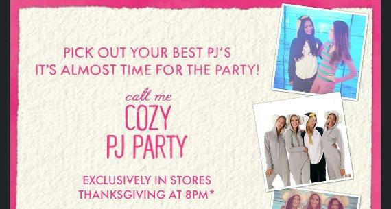 COZY PJ PARTY