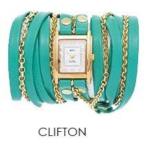 Mint-Gold Clifton Wrap Watch