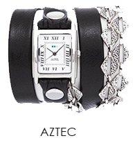 Silver Aztec Chain Wrap Watch
