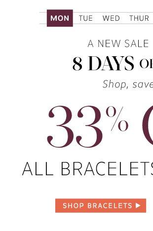 33% Off Bracelets and Earrings: Shop Bracelets
