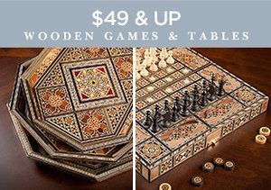 $49 & Up: Wooden Games & Tables