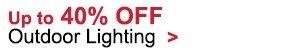 40% OFF Outdoor Lighting