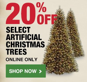 20% Off Select Artificial Christmas Trees