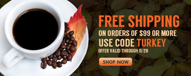 Hurry - Free shipping expires on Thanksgiving - use coupon: TURKEY