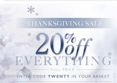 20% off Thanksgiving sale