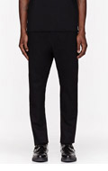 ALEXANDRE PLOKHOV Black Wool Low-rise trousers for men