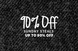 Sunday Steals: Up to 90% Off