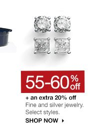 55-60% off + an extra 20% off Fine and silver jewelry. Select styles. SHOP NOW