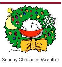 Snoopy Christmas Wreath T-shirt