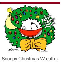 Snoopy Christmas Wreath T-shirt