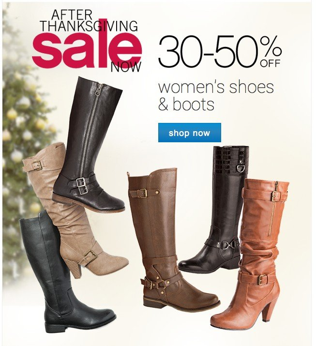 30-50% off Womens Shoes and Boots. Shop now.