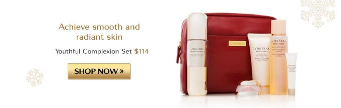 Achieve smooth and radiant skin | Youthful Complexion Set $114 | SHOP NOW »