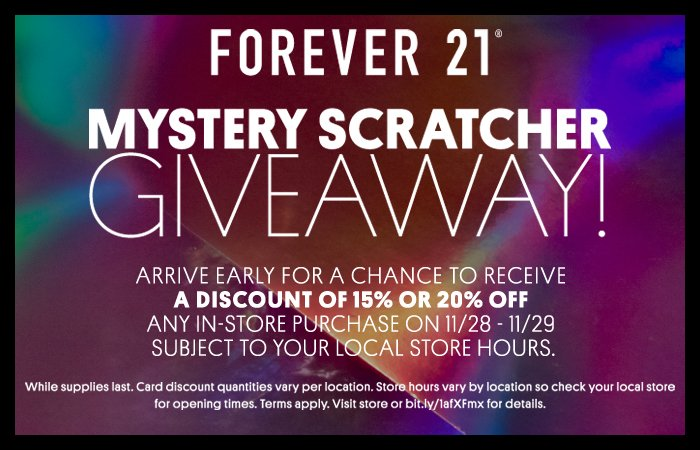 Black Friday Mystery Scratcher Giveaway!