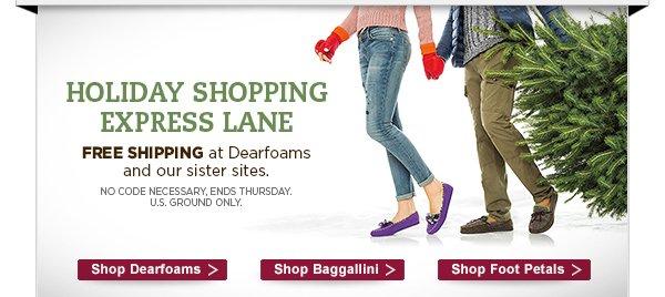 Holiday shopping express lane