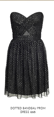 Dotted Bandeau Prom Dress