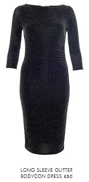 Long Sleeve Glitter Bodycon Dress