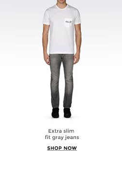 EXTRA SLIM FIT GRAY JEANS