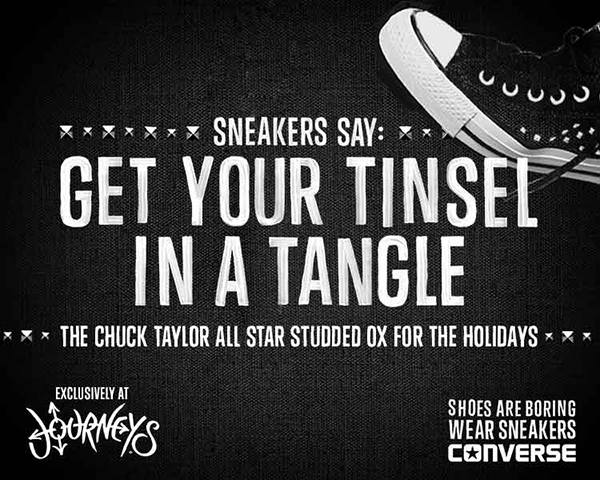 Shoes are boring. Wear Sneakers. Converse.