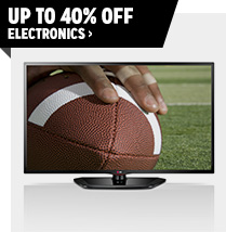 Up to 40% off Electronics