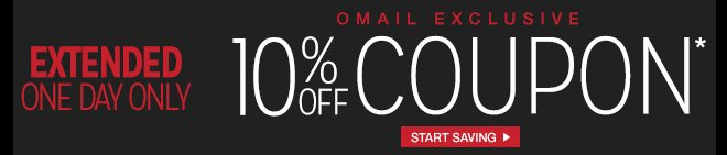 Extended - One Day Only - Omail - 10% off Coupon* - Start Saving