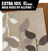 Extra 10% off Featured Area Rugs by Alliyah**