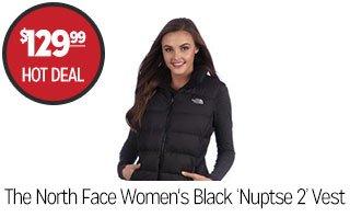 The North Face Women's Black 'Nuptse 2' Vest - $129.99 - HOT DEAL‡