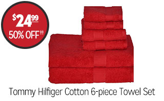Tommy Hilfiger Cotton 6-piece Towel Set - $24.99 - 50% off‡
