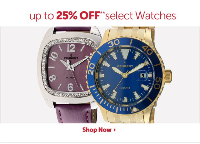 up to 25% OFF** select Watches - Shop Now