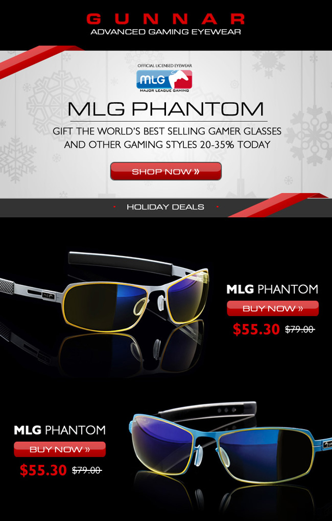 Eye Popping Deals | 35% off GUNNAR MLG Phantom Gaming Glasses