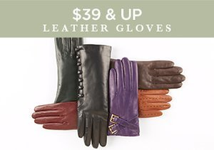 $39 & Up: Leather Gloves