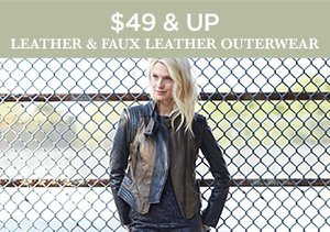 $49 & Up: Leather & Faux Leather Outerwear