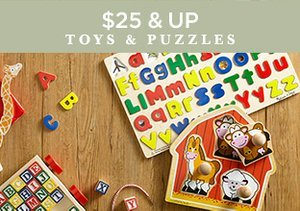 $25 & Up: Toys & Puzzles