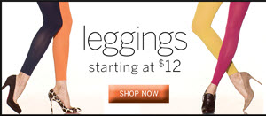 Leggings starting at $12