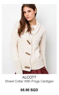 Alcott Shawl Collar with Frogs Cardigan