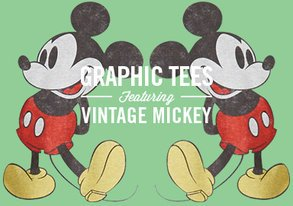 Shop Graphic Tees ft. Vintage Mickey